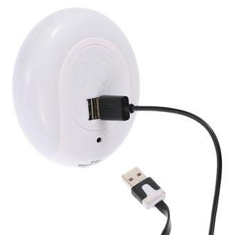 luz nocturna led con sensor de luz dual usb cargador para dormitorio living comedor uso blanco