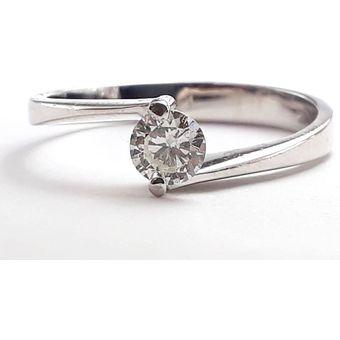 cda42086467cd Anillo De Compromiso Solitario Diamond Desing Diamante Natural 10 Puntos  Con Montadura De Oro Blanco De
