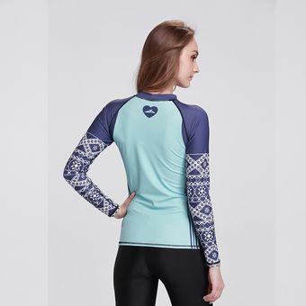 e556a6f8974f Traje De Baño Mujer De Verano Manga Larga Camisetas Proteccion Solar  Digital20