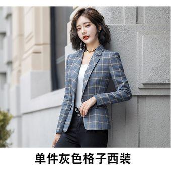 zapatos exclusivos 2019 original 60% de descuento Abrigos Dama Chaqueta De Traje De Mujer Trajes Ol A Cuadros Casuales Trajes