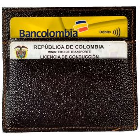 1ead1194d Tarjetero En Cuero Porta Documentos Marrón Negro Combinado