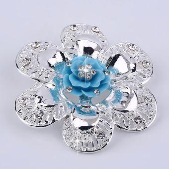 5f2226ca4b40 EY Ciclamor chino redonda Flor Broche Vintage Bisutería Broochs Pins-Silver