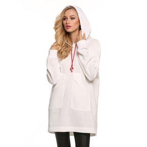 c6711d043fdc0 Yucheer Sudadera Con Capucha Oversize Para Mujer-Blanco