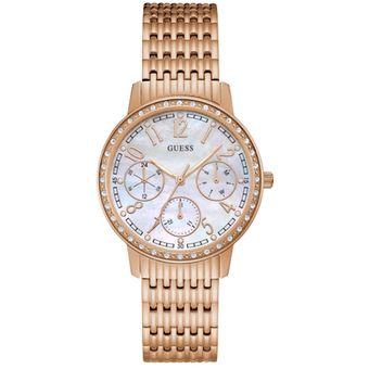 Compra Reloj GUESS Lattice W1086L2 Oro Rosa Para Mujer online ... d7028936b2d5