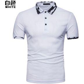 57e17e9eca0f2 Camisa Hombre Polo De Primavera Casual Tops Hombre Y Verano De Los-Blanco