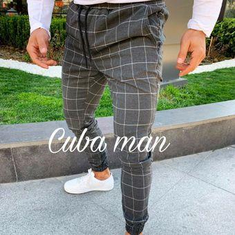Pantalones De Correr De Sarga A Cuadros Para Hombres Pantalones De Harem De Hip Hop Urbano Pantalones Casuales Delgados Dark Blue Linio Peru Un055fa01xjpxlpe