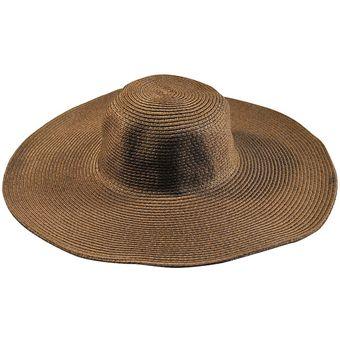 3b79248f09251 E-Thinker Sombrero Para El Sol Para Playa Sombrero Grande Gorra-Marrón