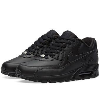 Agotado Zapatos Running Hombre Nike Air Max 90 Leather-Negro
