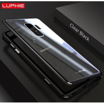 buy popular 76007 b09dd Case Bumper Aluminio Luphie Magnetic Para Samsung Galaxy S9 Plus - Negro