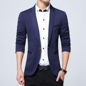 2018 moda marca Blazer hombres trajes casuales hombres Blazer traje-Azul e108e5f5a3c