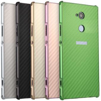 20c2c61f96c Compra Funda De Carbono Metálico Para Sony Xperia XA2 Ultra-Oro ...