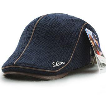 Compra Unisexo PU Cuero Sombrero De Boina De Tejido Gorra online ... 65f8e26d0e0