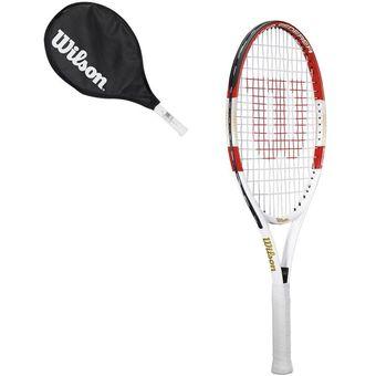 Compra Raqueta de Tenis Wilson Roger Federer 23 Tns - Rojo y Blanco ... 46e74778881