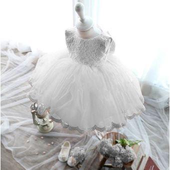 Vestidos Bautizo Para Bebé Niña Fiesta Pajecita Tutus Blanco
