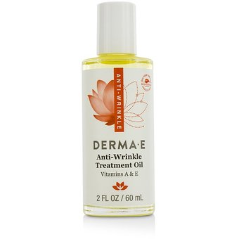 Anti-Wrinkle Treatment Oil with Vitamins A & E - 2 oz. by DERMA-E (pack of 1) Face Wash Whitening Herbal Soap Rice Milk Collagen Acne NaNo Whiteninig 100g.