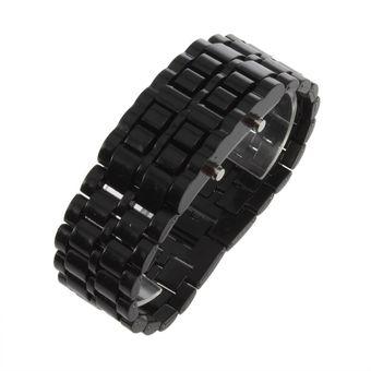 f1b4165dcf83 EH Reloj De Pulsera Deportivo LED Digital Lava Samurai De Plástico  Unisex-Negro
