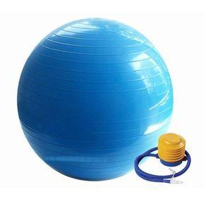 Pelota Pilates Live Up Aerobicos Yoga Gym Ball De 65 Cm Con Inflador -  Celeste 87684d2c3d00