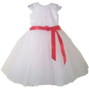 0911b9ef8 Vestido Para Niña Largo Blanco Nuevo Modelo