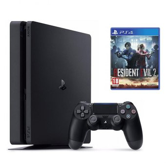 Consola Ps4 Playstation 4 1tb Slim + Juego Resident Evil 2 Remake