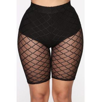 Pantalones Cortos Sexis Para Mujer Mallas Transparentes De Malla Transparente Pantalones Cortos Ajustados De Cintura Alta Y Malla Elastica Para Entrenamiento A Linio Peru Un055fa172ilrlpe