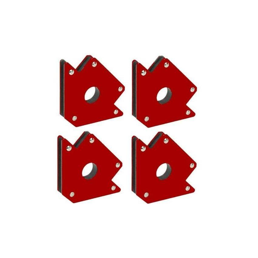 Pack 4 Escuadras Magneticas Para Soldar 50 Lbs