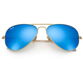 54e6dd7153af5 Gafas de Sol Ray Ban Aviator Flash Lenses RB 3025 112 17 Dorado   Azul