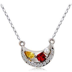 102ca2e06bc4 Collar de plata con colgante de cristal de circón