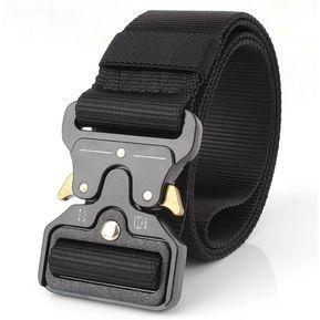 Cinturón multifuncional de color solido para hombre - Negro c775e29f7475