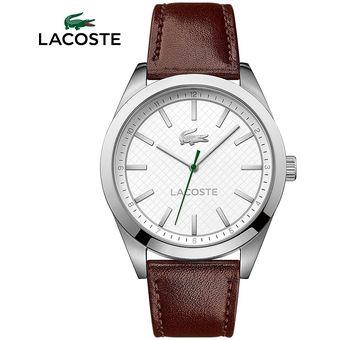 434bc0a561b9 Reloj Lacoste Edmonton 2010893 Acero Inoxidable Correa De Cuero - Marrón  Blanco