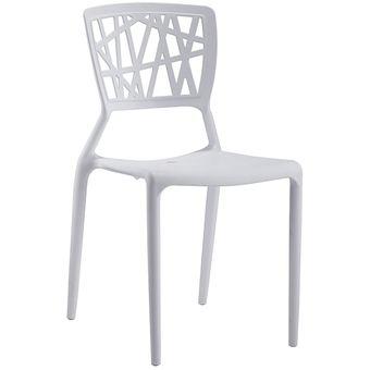 Juego de 4 sillas de comedor apilables. Furniturer Nestle WH
