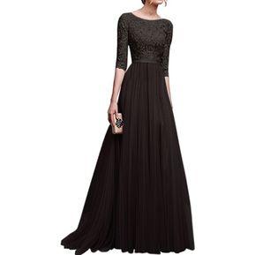 e6f1388bb Vestido Casual Generico Gasa Vestido Falda larga - Negro