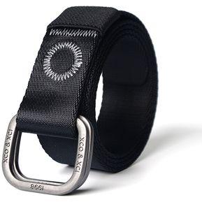 Cinturón-Militar Tactico Policia CinturóN Lona Doble-Negro e525a1a41f51