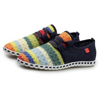 597066cb Malla transpirable zapatos deportivos color arcoiris suela exterior de goma  antideslizante Mujer