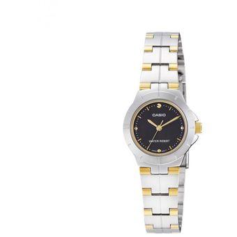85a964660efc Compra Reloj Casio Ltp-1242sg-1c Cadena Bicolor Negro Para Mujer ...