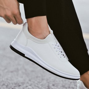 hot sale online f2872 edfff Nuevos hombres de moda casual tendencia zapatos blancos zapatos  transpirables-Blanco