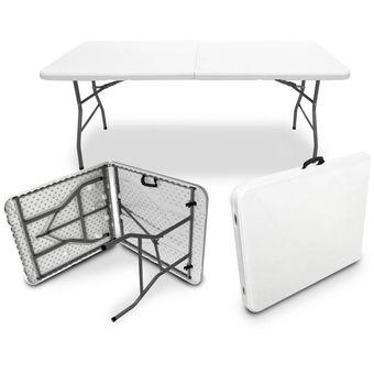 Compra mesa plegable 1 8 mts tipo portafolio maletin for Mesa plegable 8 personas