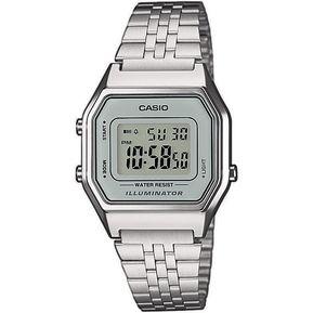 3211525e4506 Reloj Dama Casio Vintage LA680 Plata Cara Gris