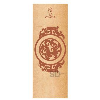 Mat de yoga corcho y látex natural 5.5 mm - Diseño 606 con bolso