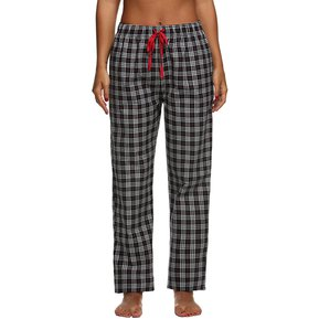d0427270d9 Pantalones Pijama Ekouaer Cuadrados para Mujer-Negro