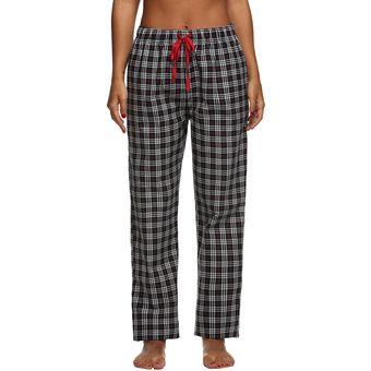 67774f3985 Compra Pantalones Pijama Ekouaer Cuadrados para Mujer-Negro online ...