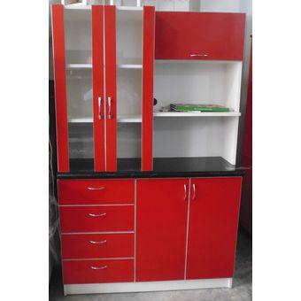 Compra repostero tiendas amueble melamine rojo online for Manual para hacer muebles de melamina