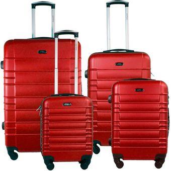 9d5a03711 Compra Set 4 Maletas Rigidas 4 Ruedas Rojo 16