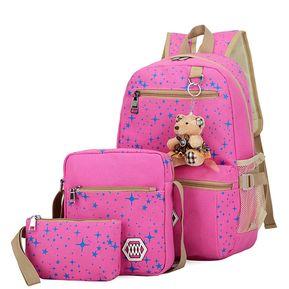 d9667285c32 Mochila De Estampado Estrella Para Las Chicas De Forma Terno - Rosa