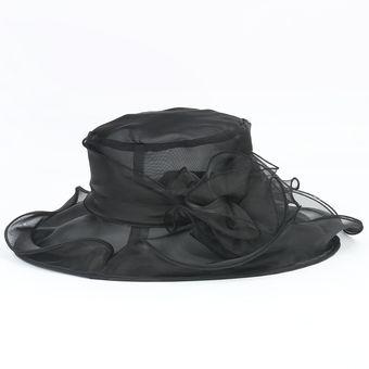 Compra Sombrero Ala Ancha Mujer Kast Store Organza - Negro online ... 0a10acce9ae
