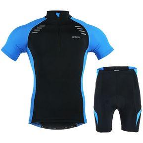 625228bdedeb8 Ropa de Ciclista Mtb Equipacion Ciclismo Verano Hombre Manga Corta Azul