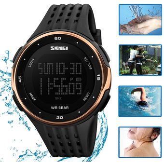 a1c0529bb Reloj Contra Agua Unisexo Skmei Mujer Digital Deportivo (Dorado Rosa)