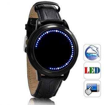 26883fbc2e7e Relojes Caballero Led Modelo Tron Lujo Digital Binario Moderno Luz-Negro