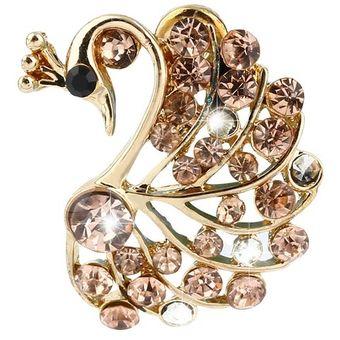 092e24e209be Nueva Bonita Bisutería Vintage Rhinestone Peacock Espárragos Aves  Pendientes -golden