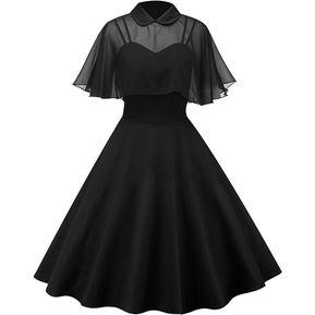 4e1b85e8b3 Vestido Casual Generico Mantón Traje de dos piezas navidad - Negro