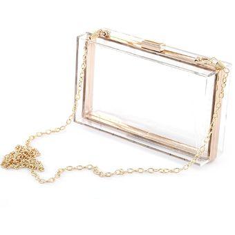 810a82387 Compra Bolsa De Hombro Forma Cuadrada Para Mujer- Transparente ...